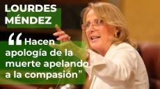 Lourdes Méndez destapa el cinismo progre que rodea al debate de la eutanasia
